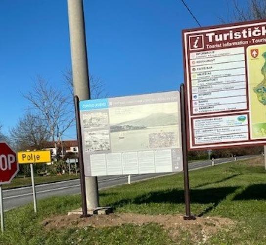 Postavljena Turističko informativna tabela o Čepićkom jezeru